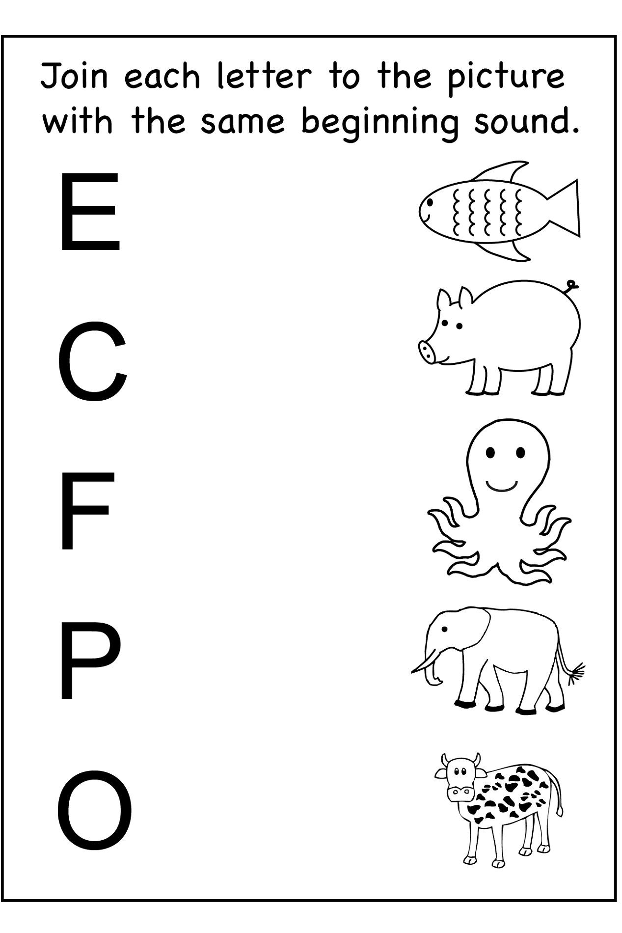 Printable Homework Sheets For Kindergarteners
