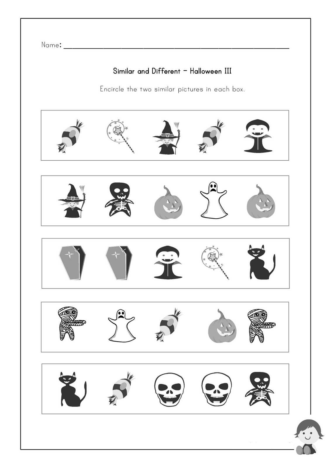Worksheet For Ted Kindergarten
