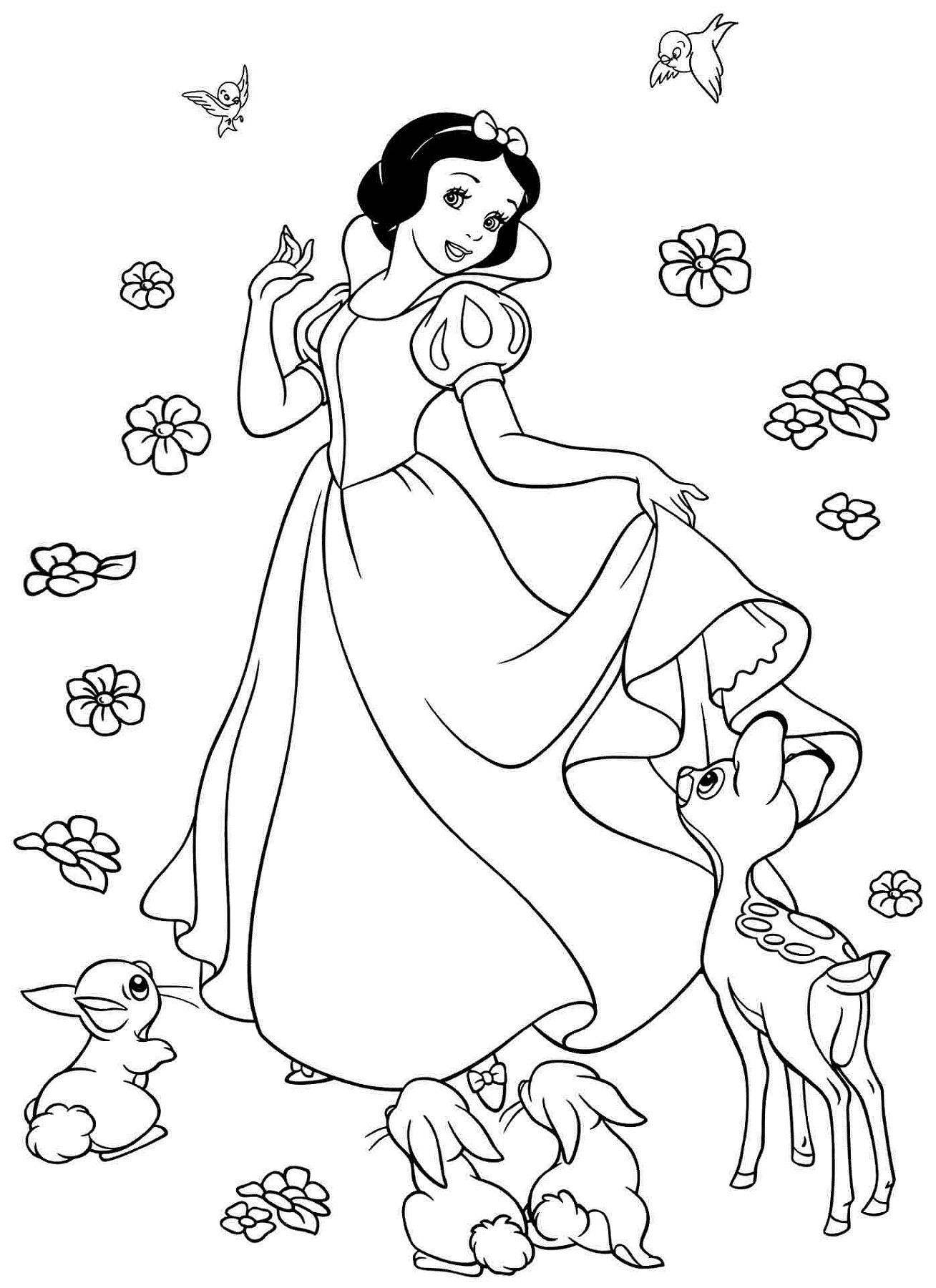 Snow White Color Pages To Print