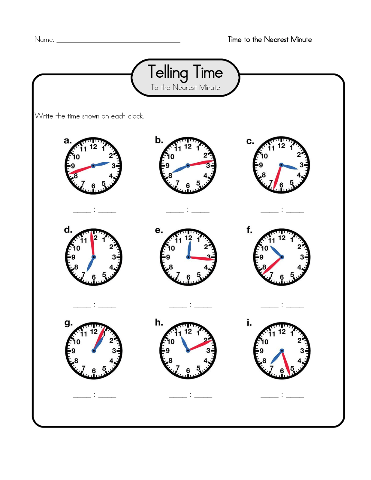 Time Elapsed Worksheets To Print