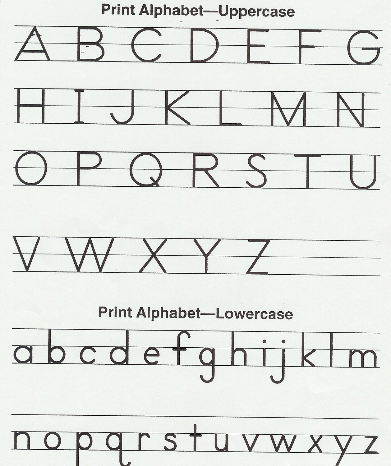 Alphabet Printable For Preschool