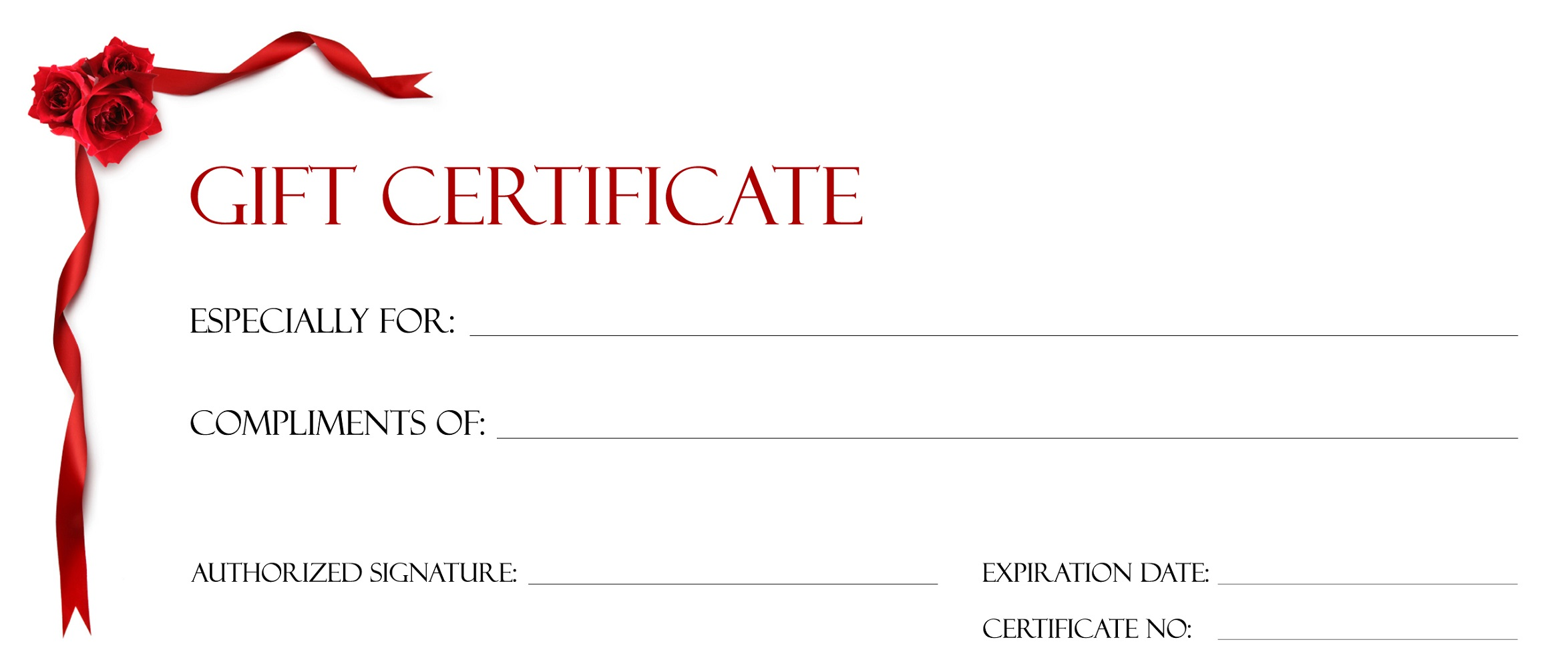 Fillable Gift Certificate Template christmas printable gift – Homemade Gift Certificate Templates