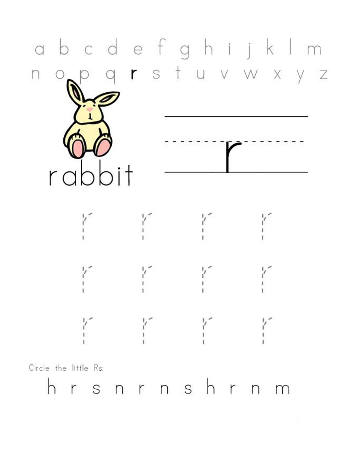 Free Preschool Abc Worksheets