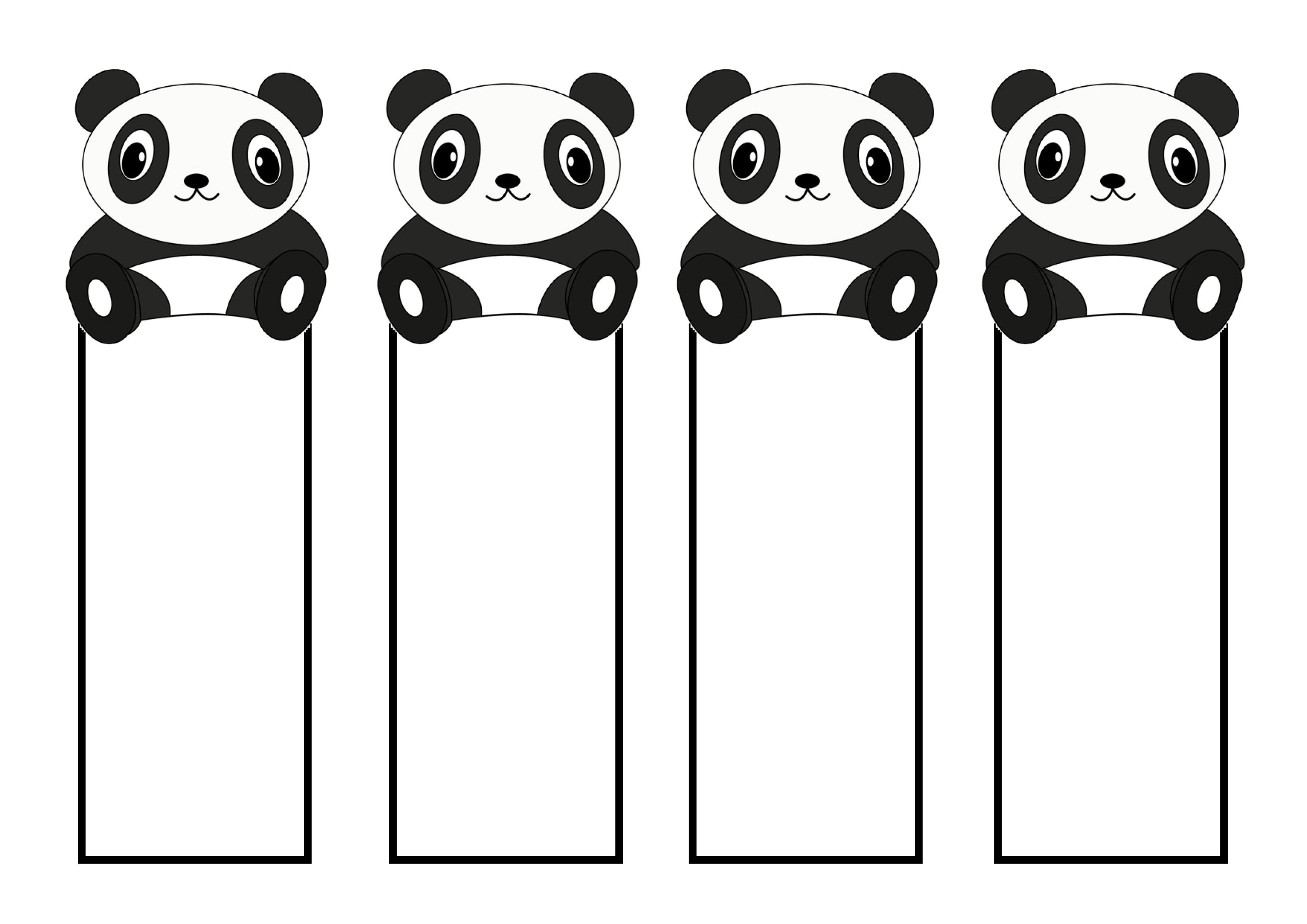 Printable Cute Bookmarks