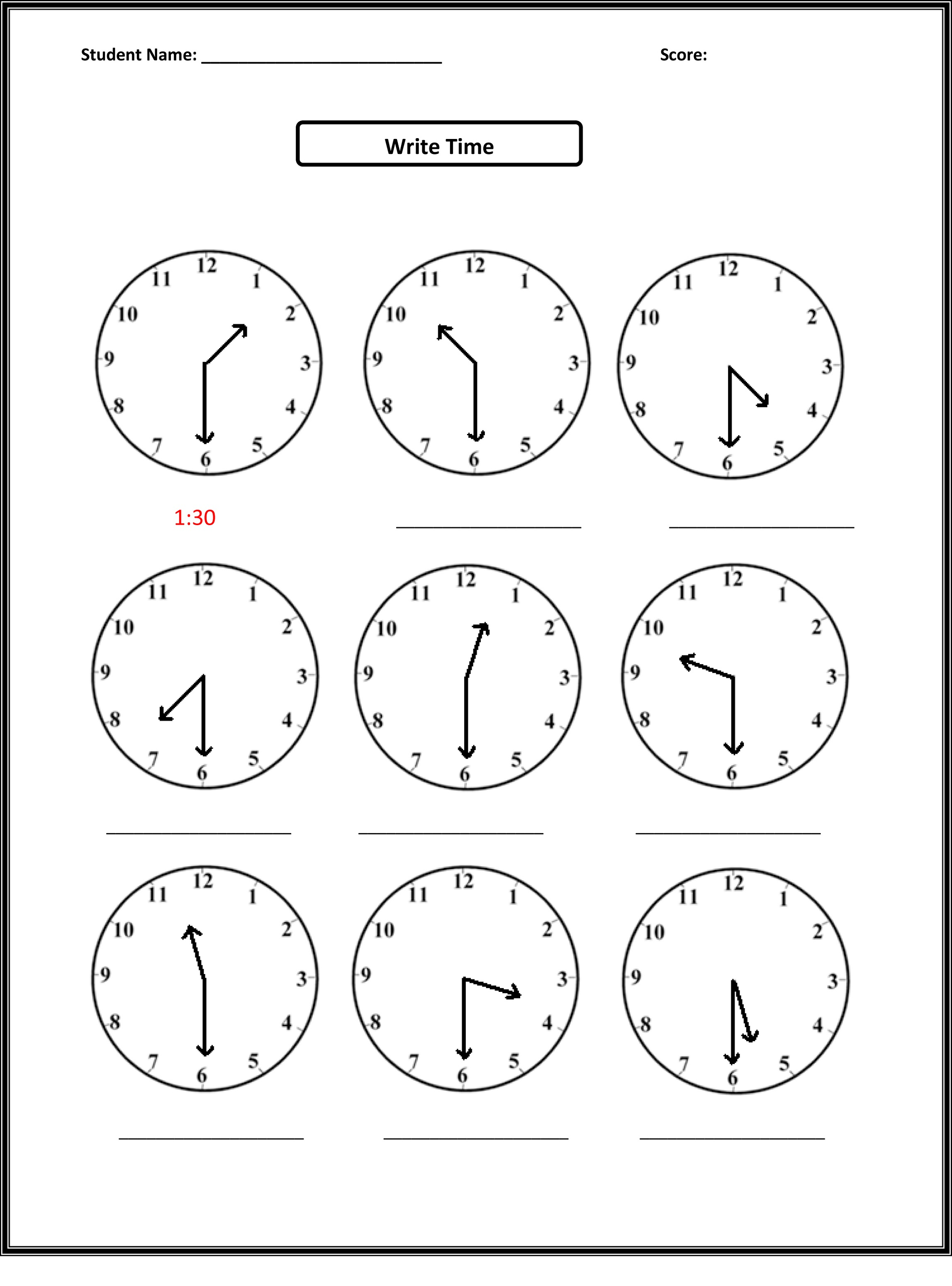 Easy Elapsed Time Worksheets
