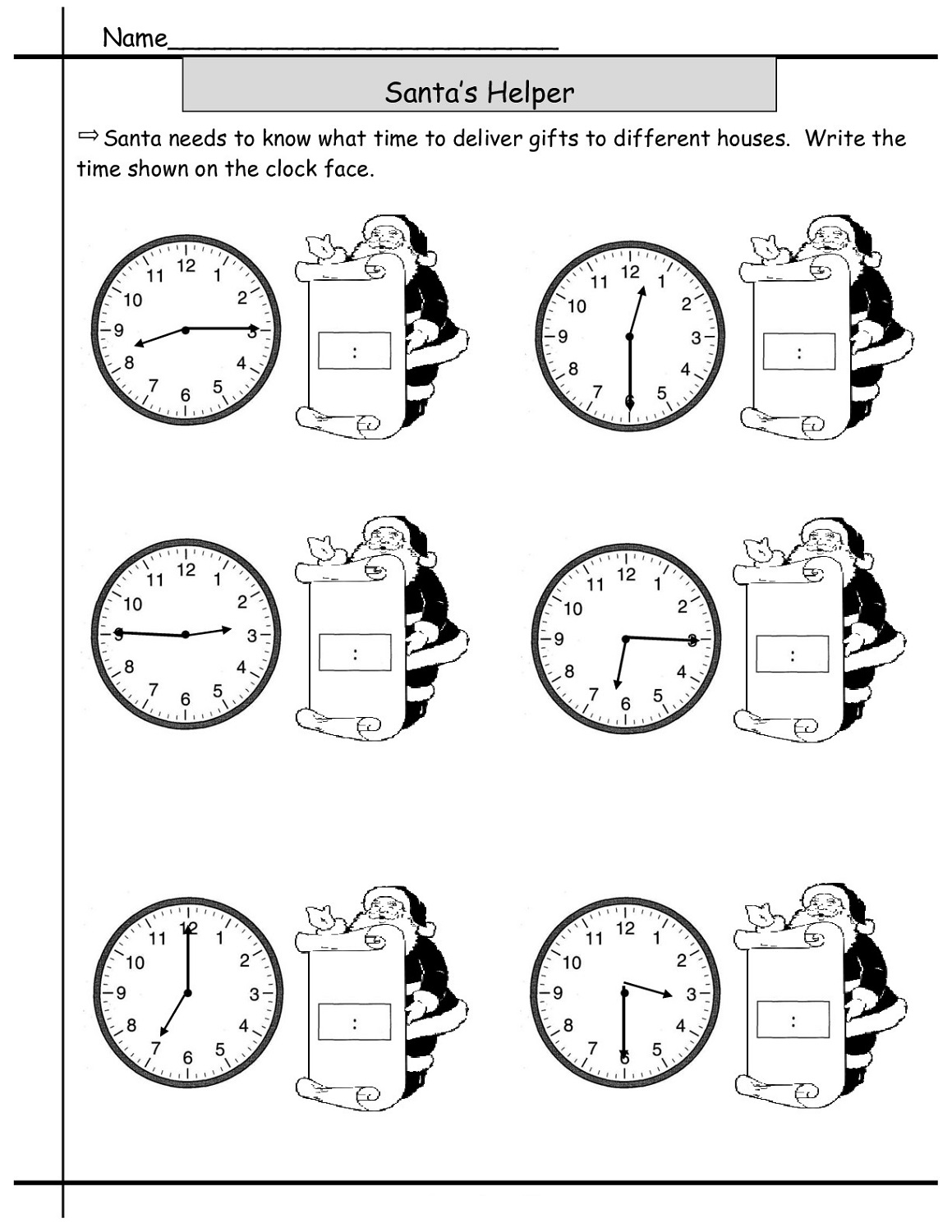 Digital Time Worksheet Printable