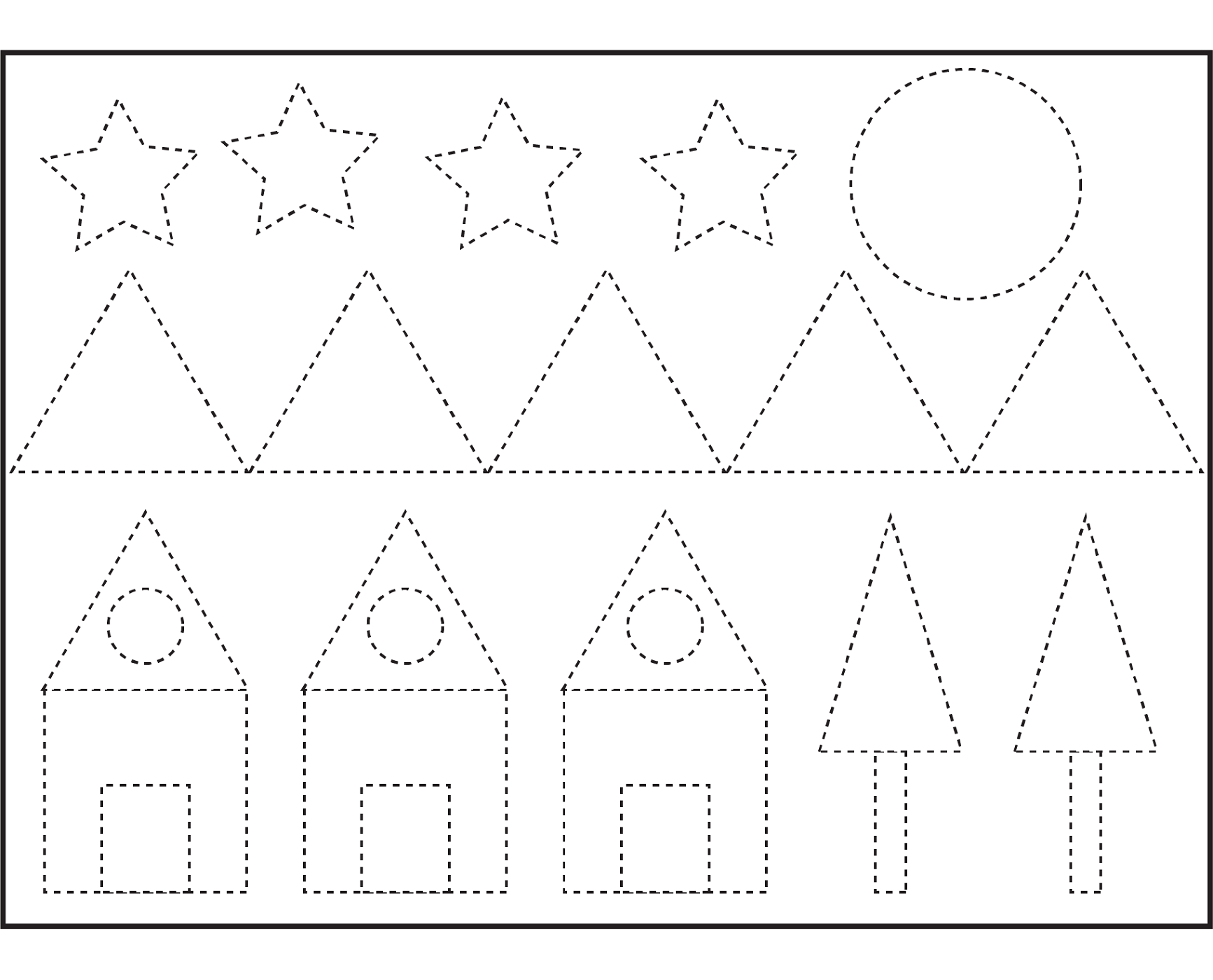 Hard Shape Pattern Worksheet