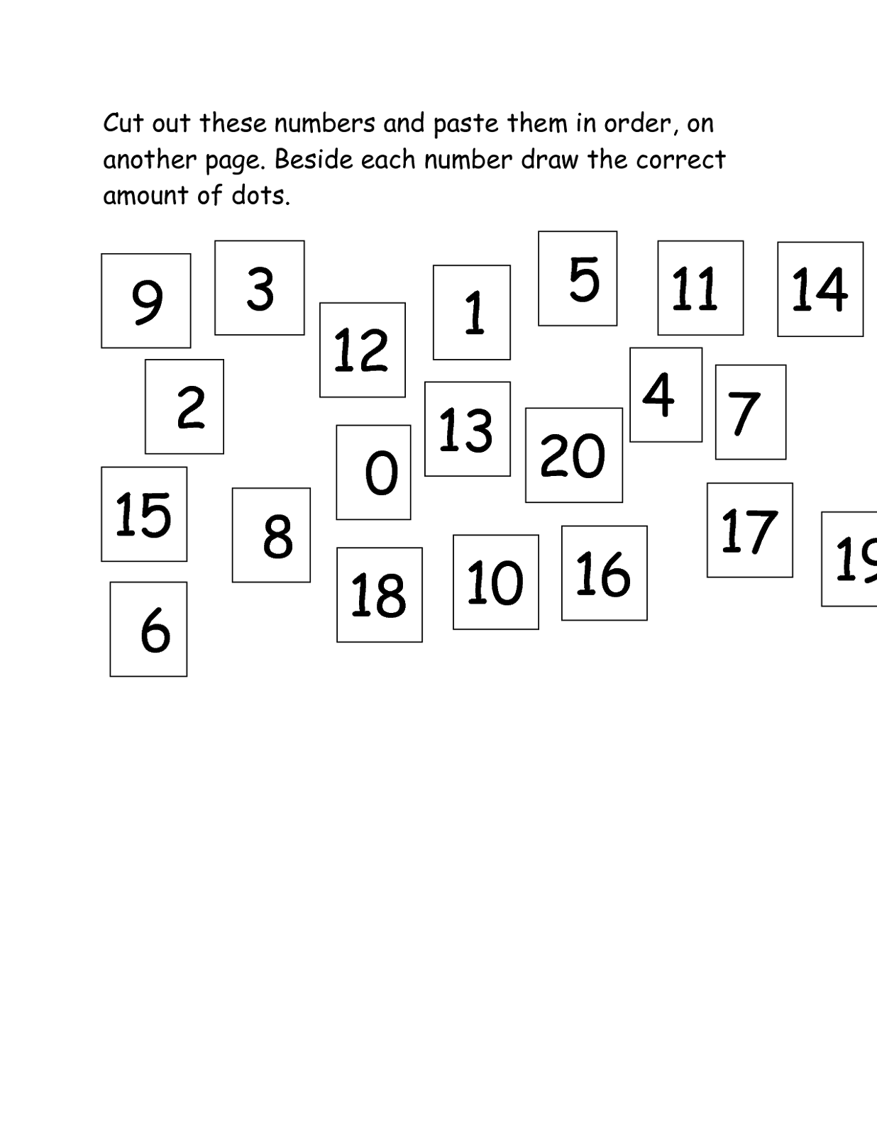 Ta Worksheet Counting To 20