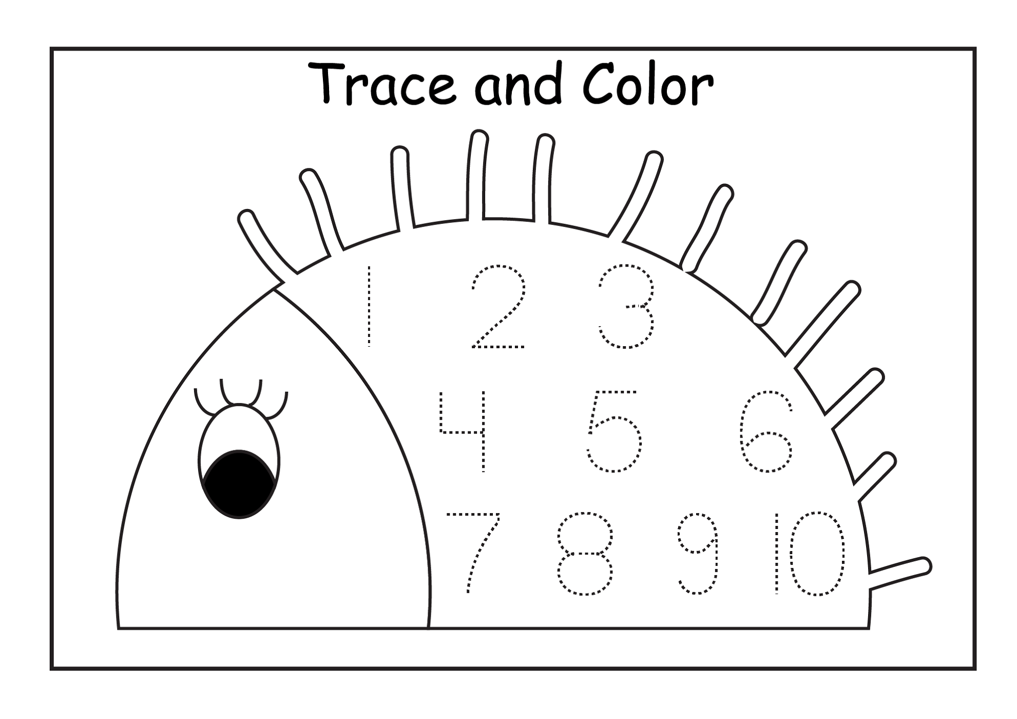 Printable Numbers 1 10 Coloring Pages