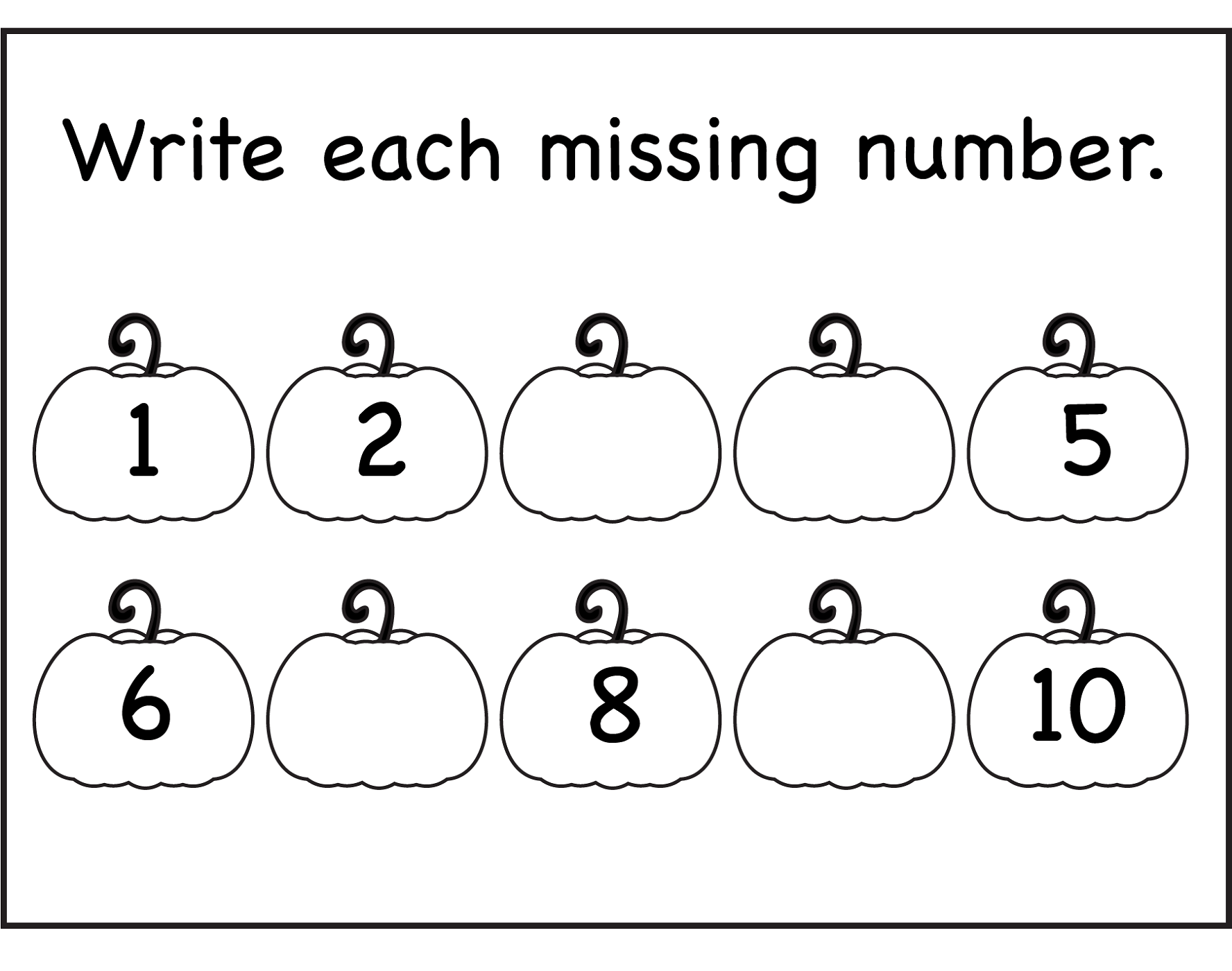 Number 1 10 Worksheets Free