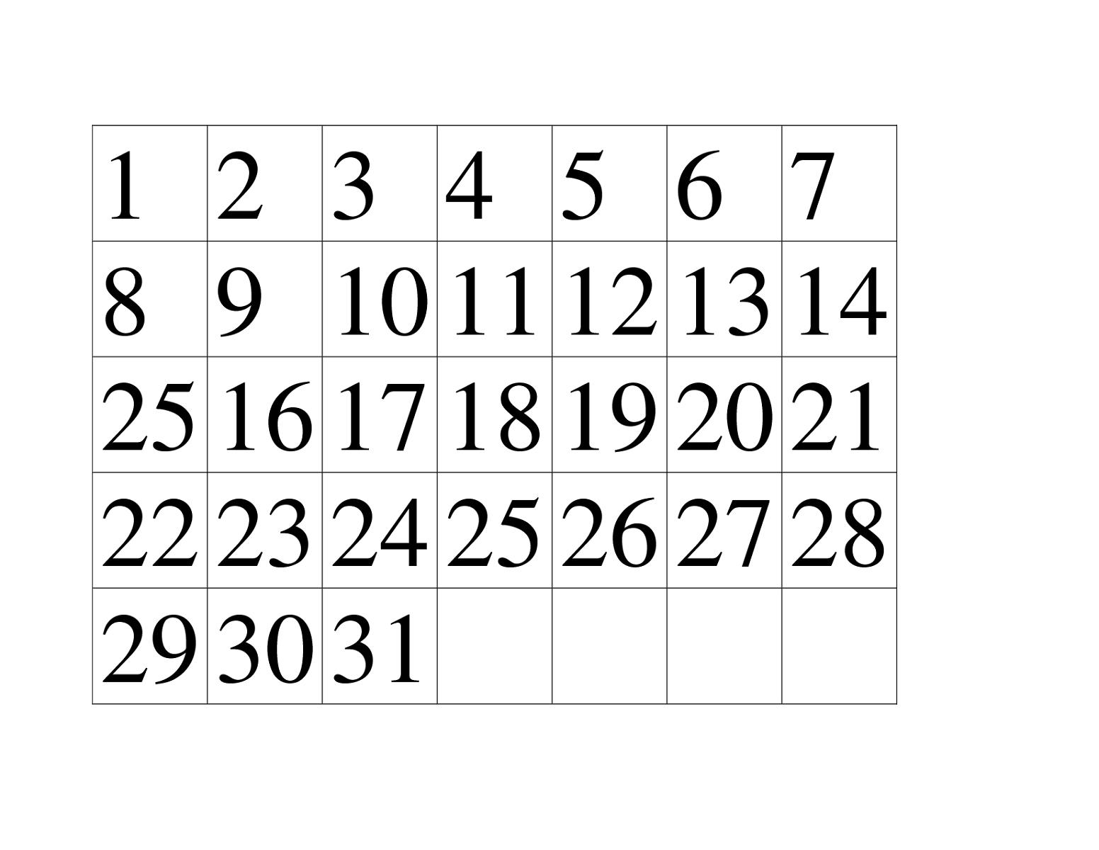 Printable Number 1 30 Worksheets
