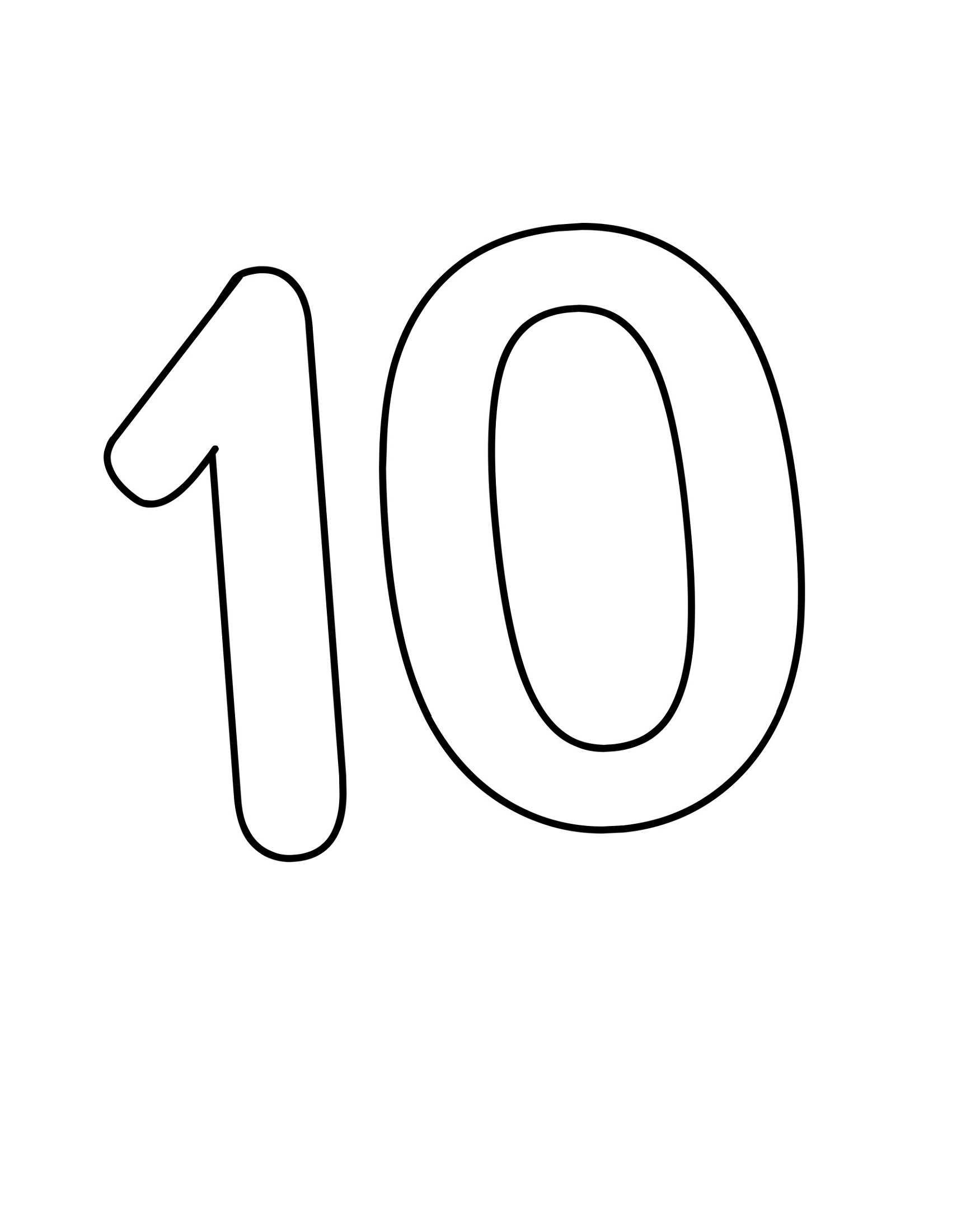 Printable Pictures Of Number 10