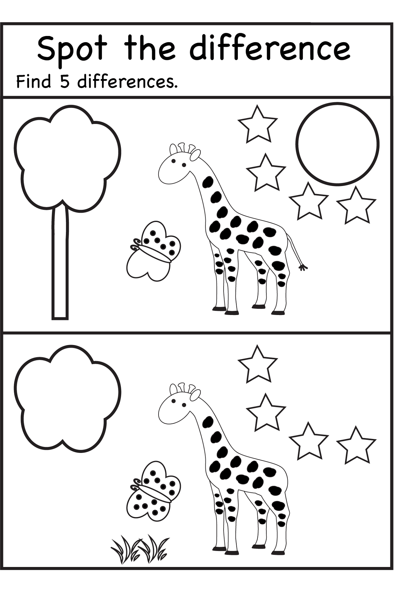 Parts Of The Body Worksheet For Nursery