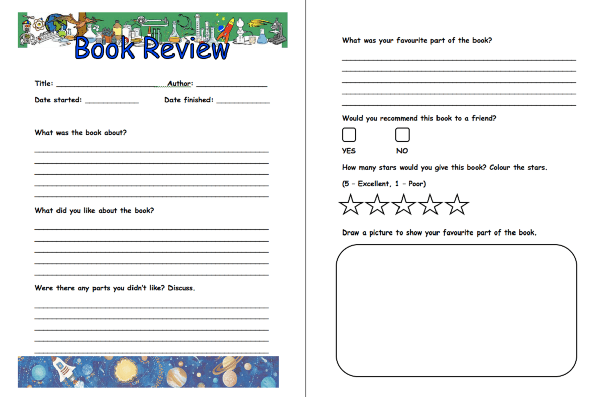 Printable Elementary Book Report Template