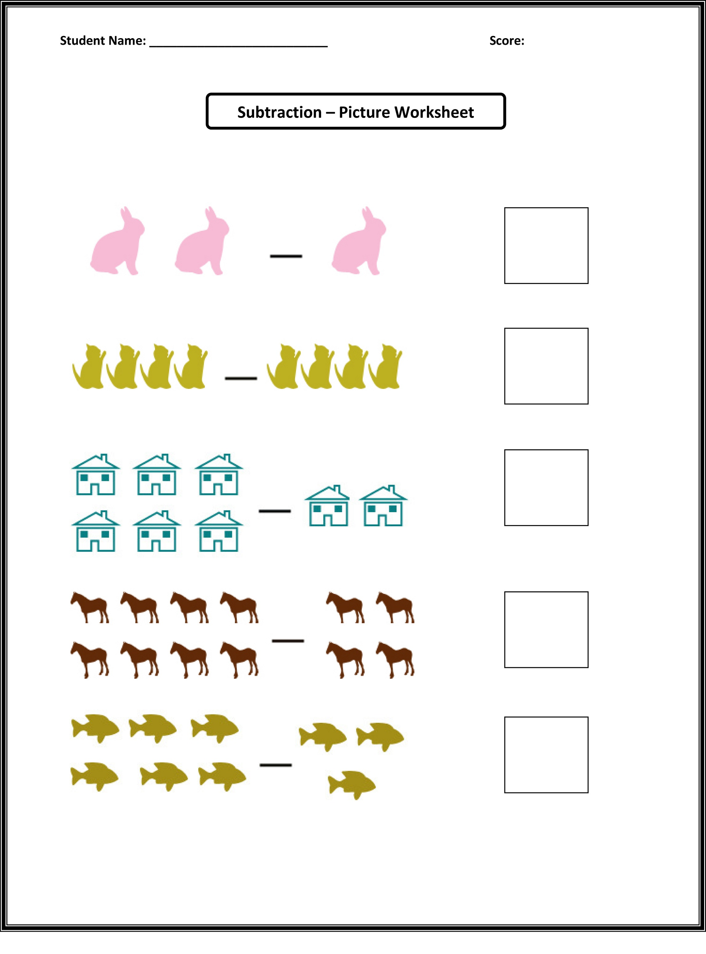 Math Worksheets Images For Kids