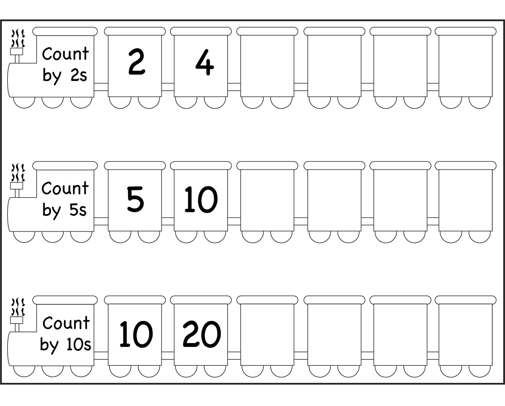 Printable Skip Count By 5 Worksheets