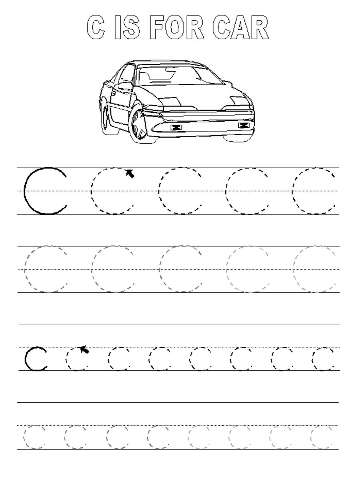 Trace Letter C Worksheets
