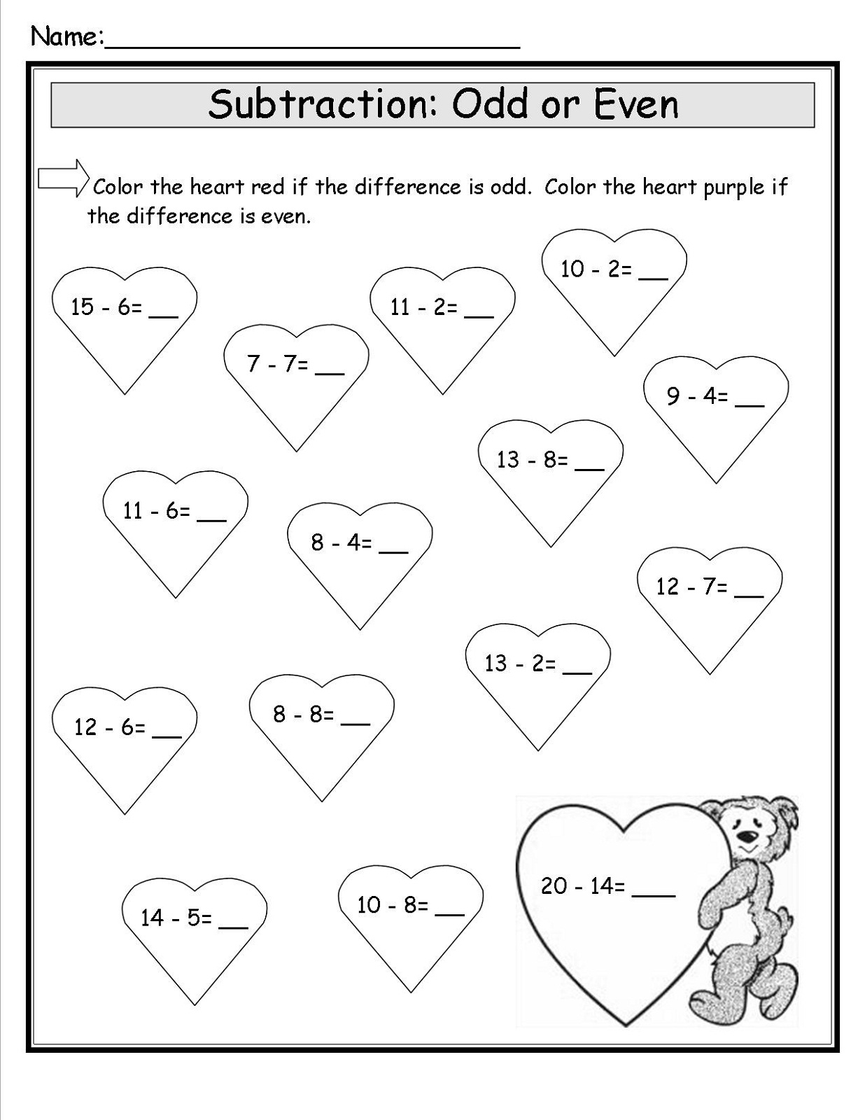 Easy Odd And Even Worksheet