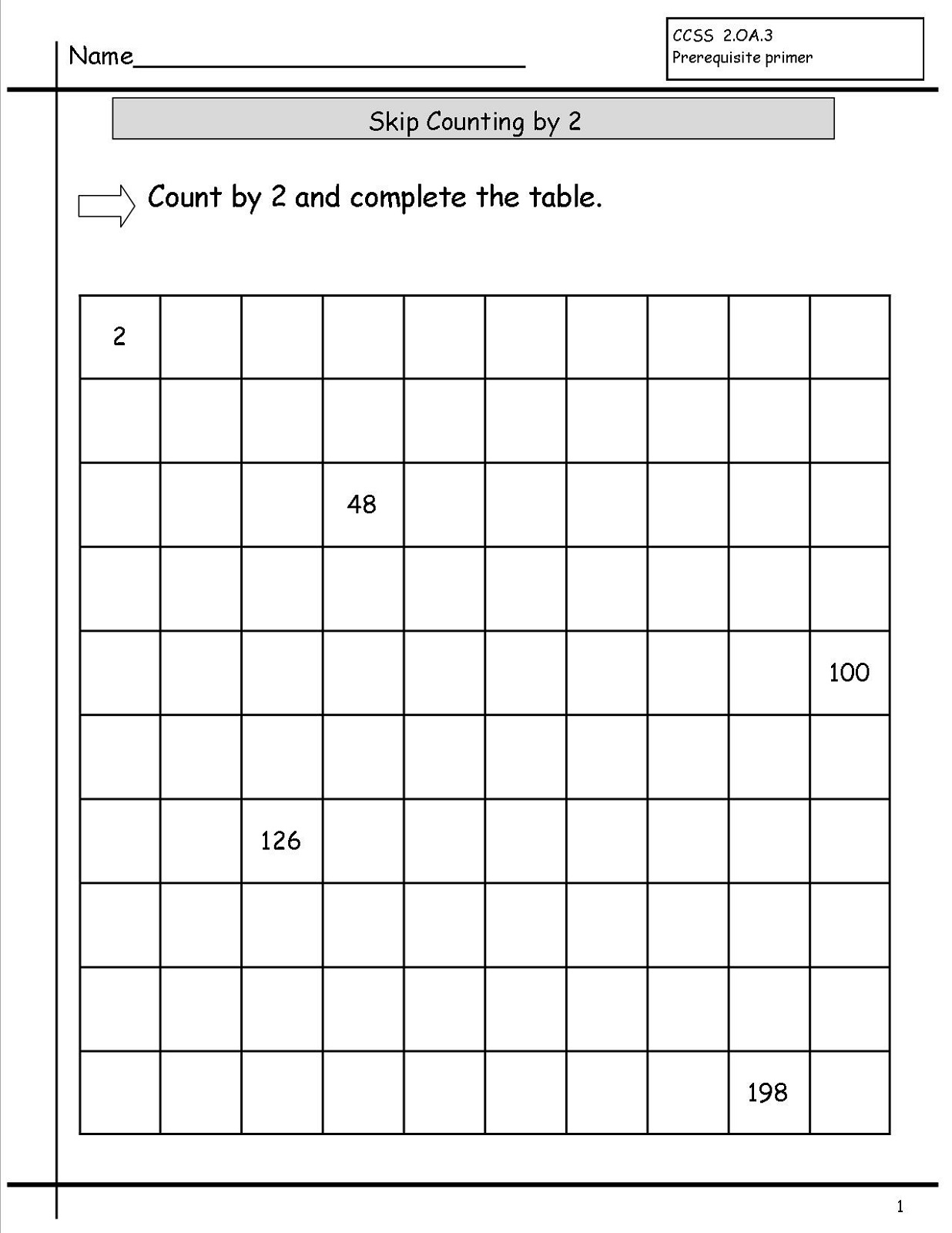 Check Counting Worksheet