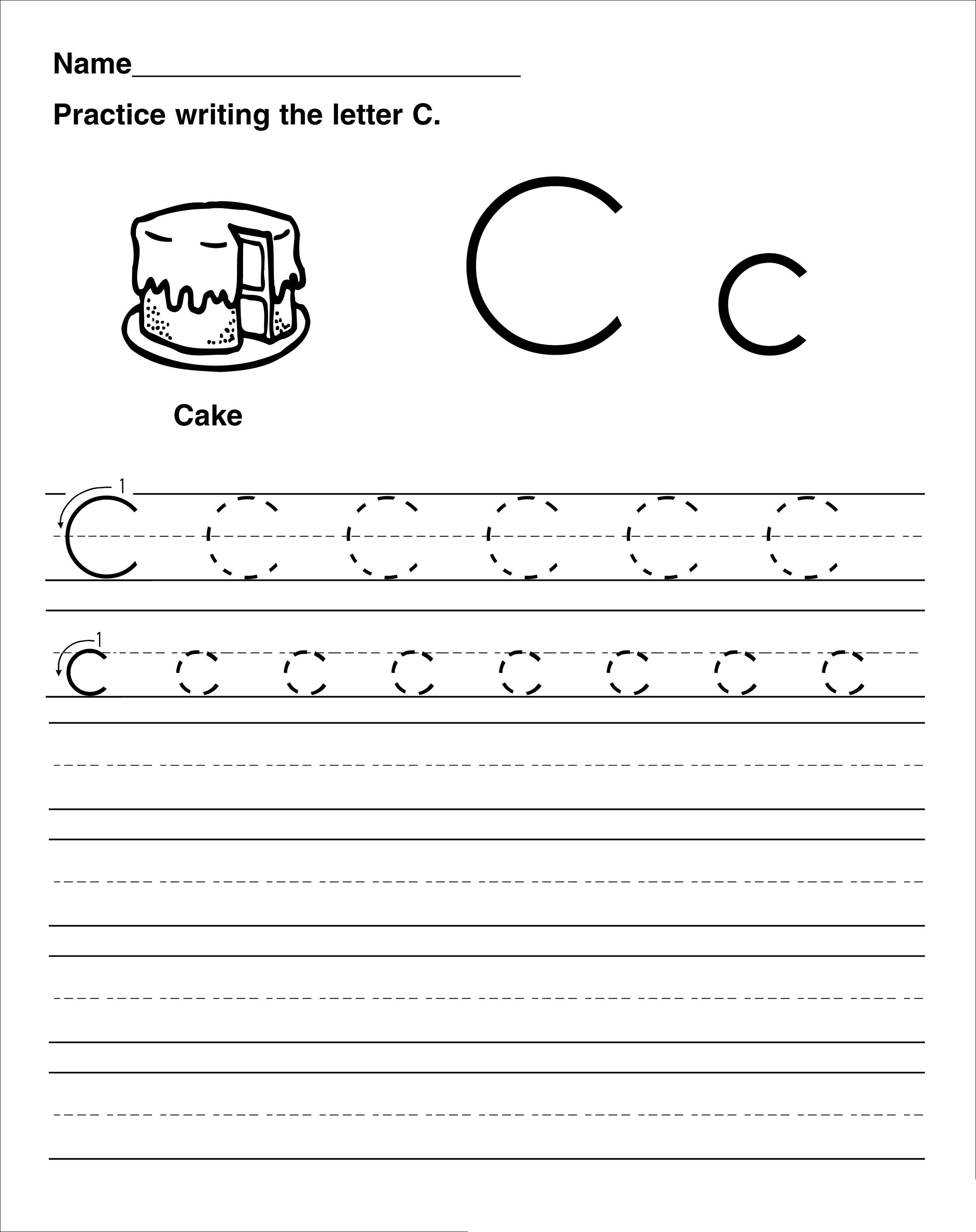 Trace The Letter C Worksheets