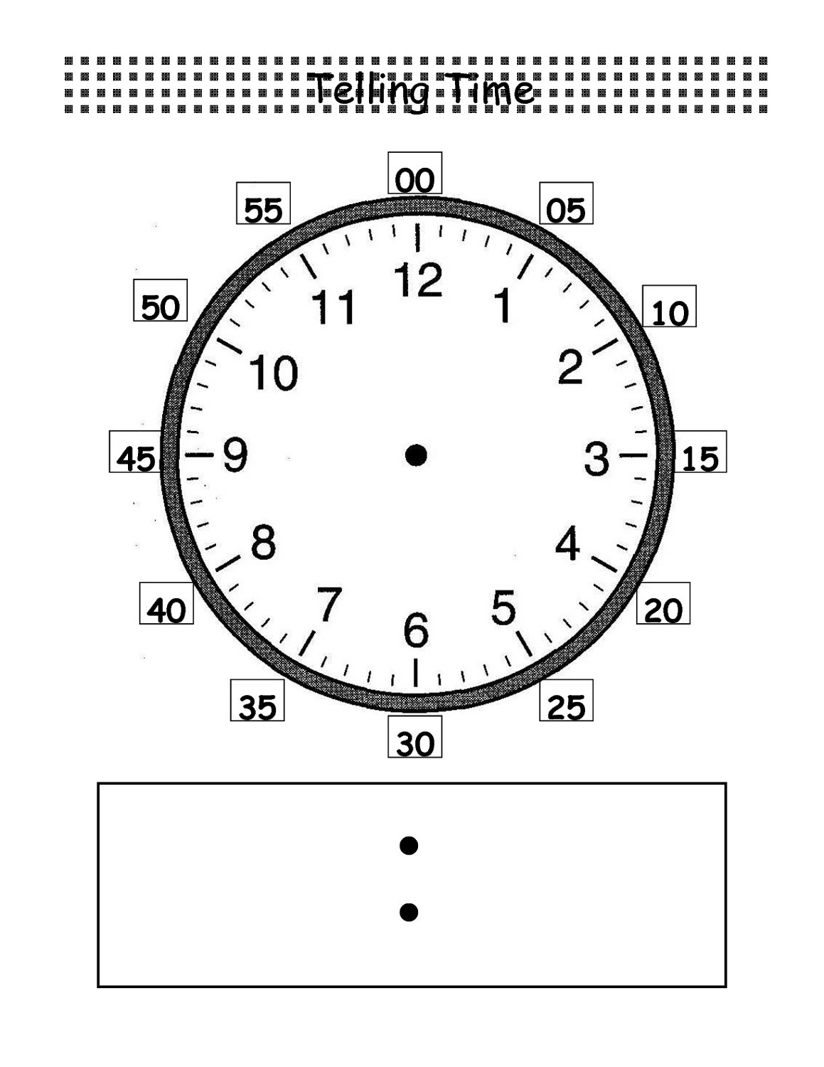 Blank Clock Faces Templates