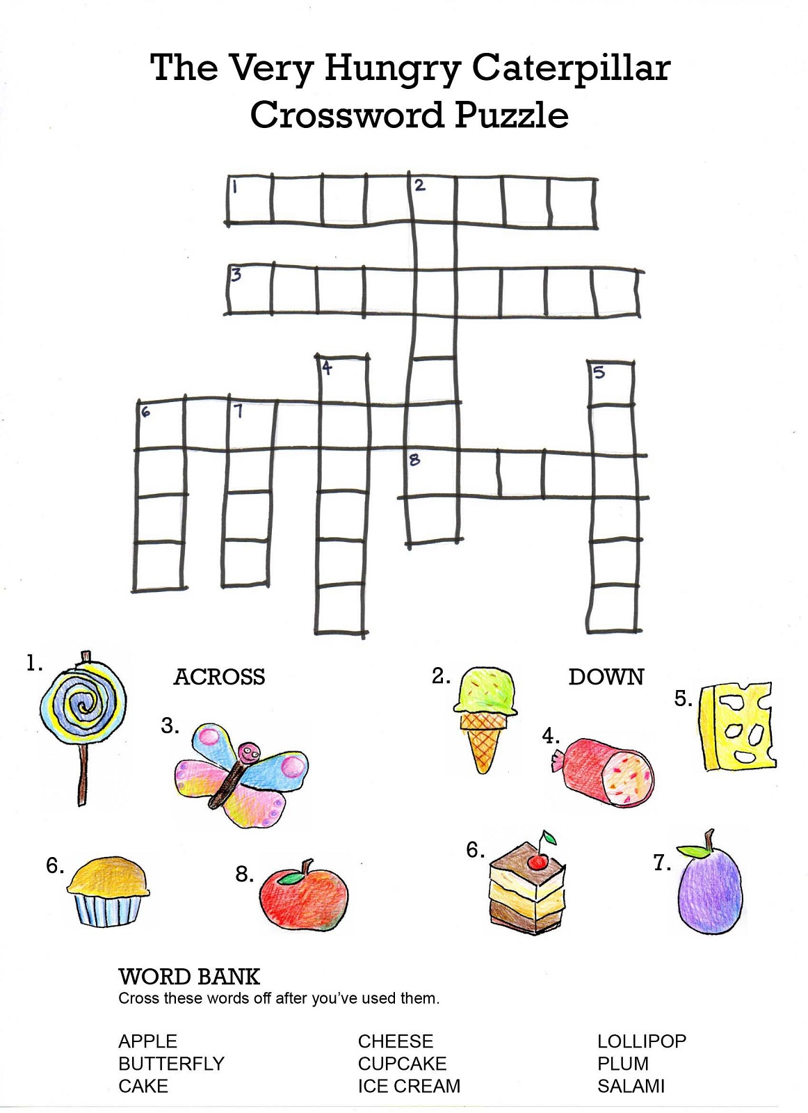 Easy Crosswords Puzzles For Kids