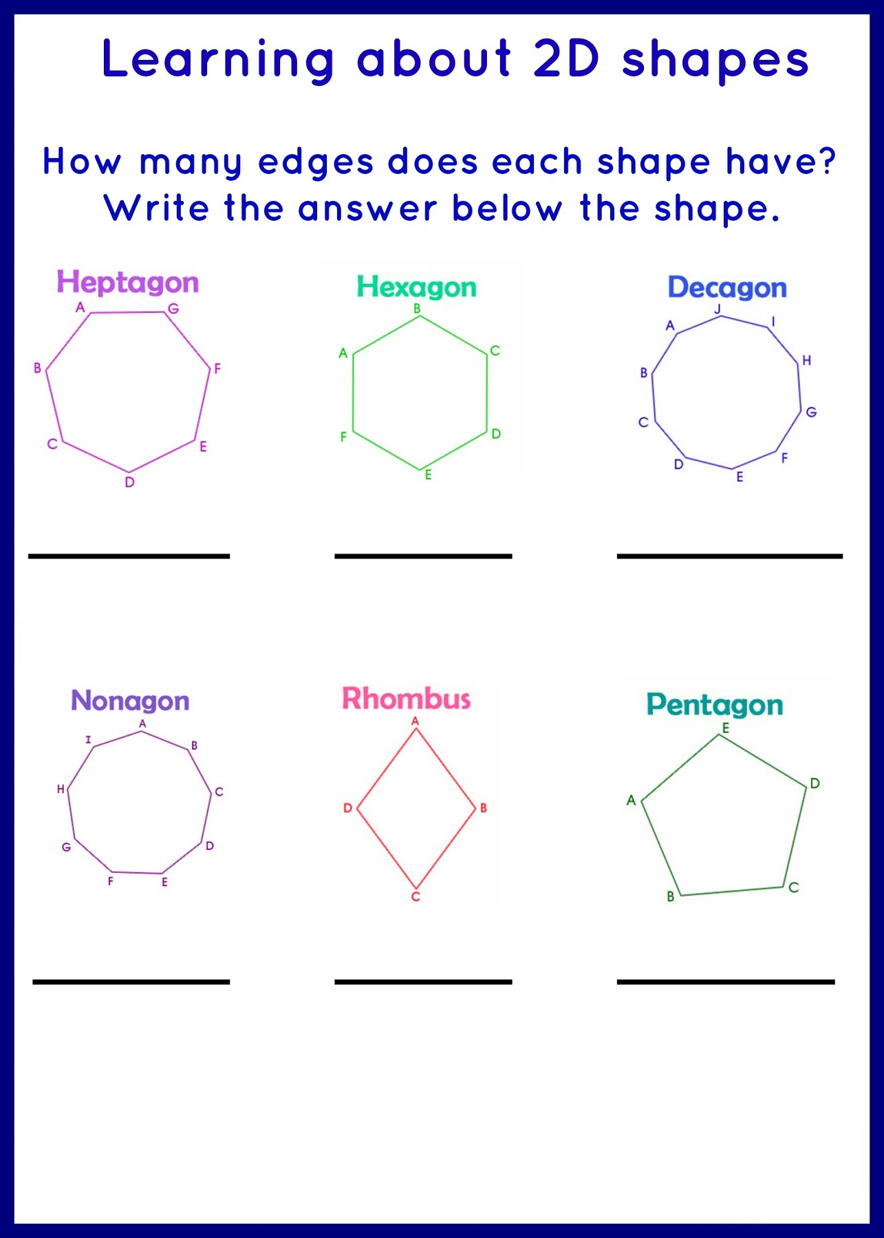 Printable Octagon Shape Worksheet For Kindergarten