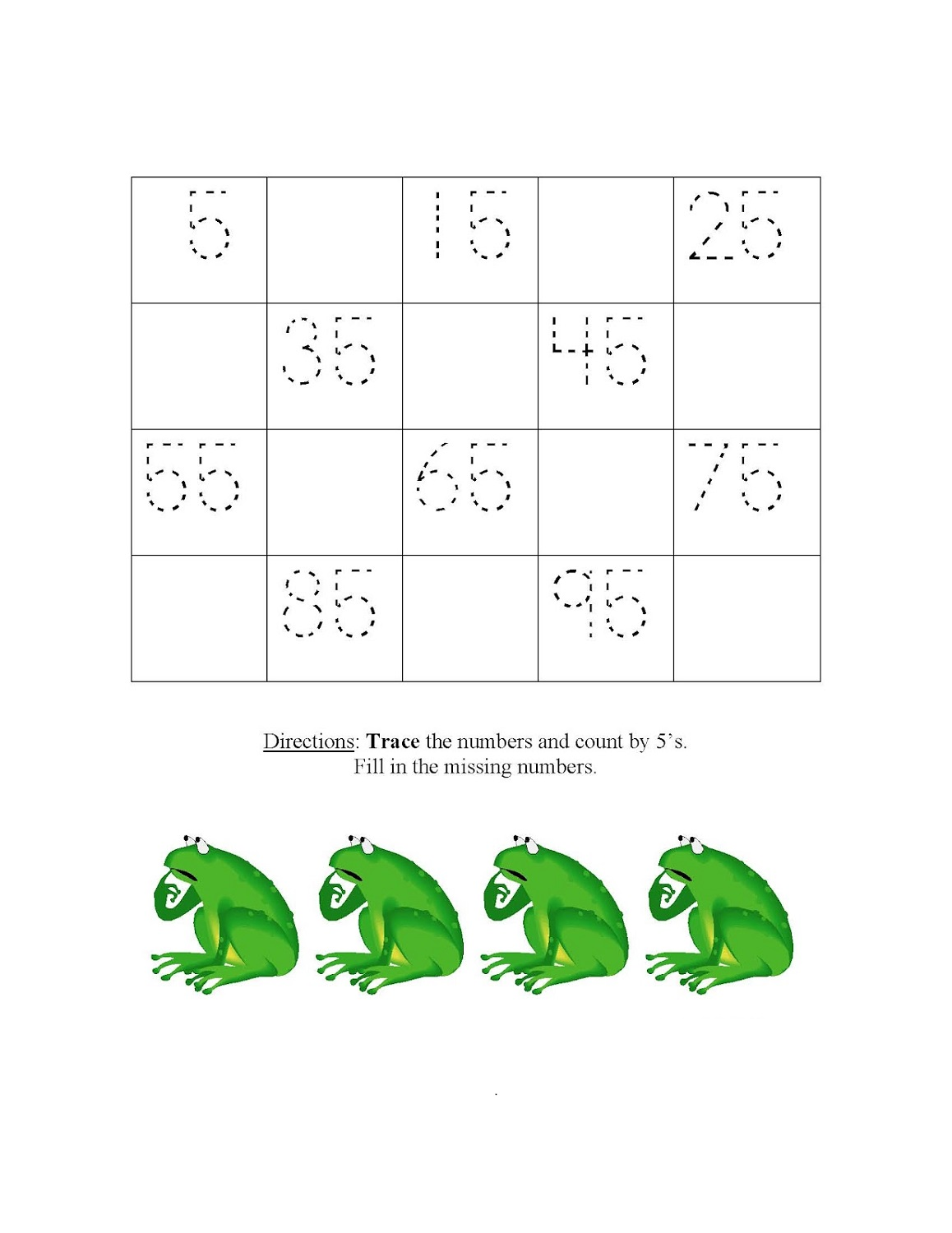 Skip Count By 5 Worksheets
