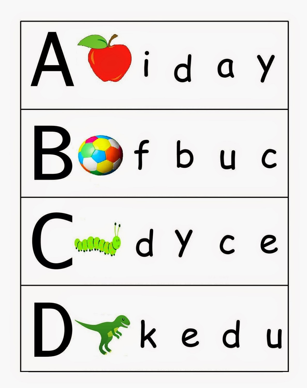 Preschool Worksheets Lowercase Letters