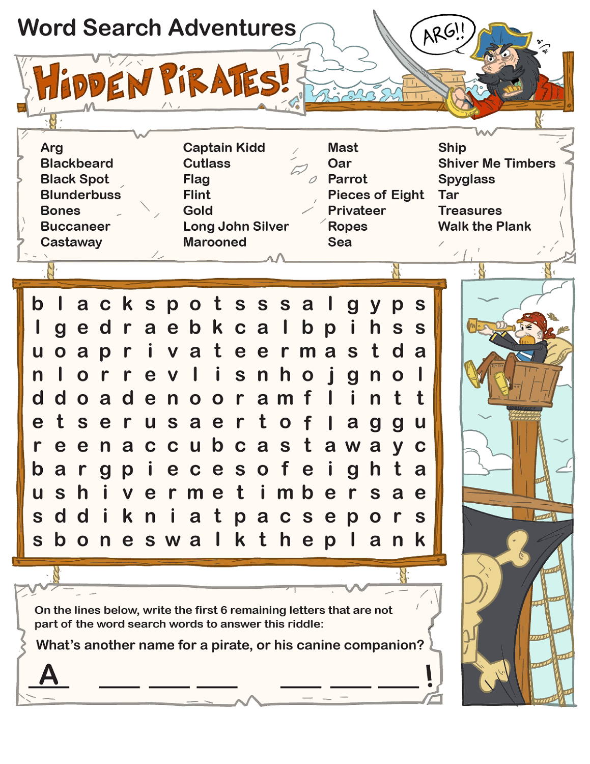 Free And Printable Word Search Kids