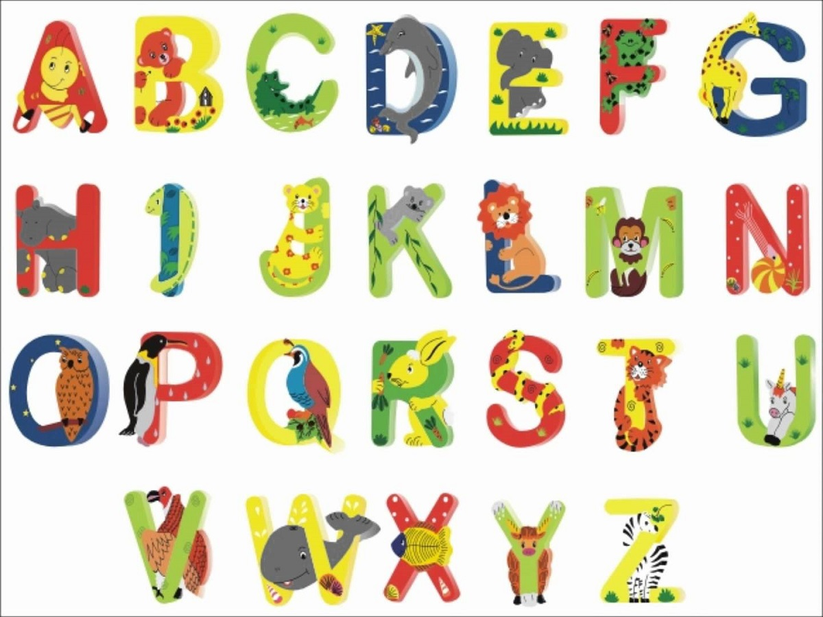 Animal Shaped Letters