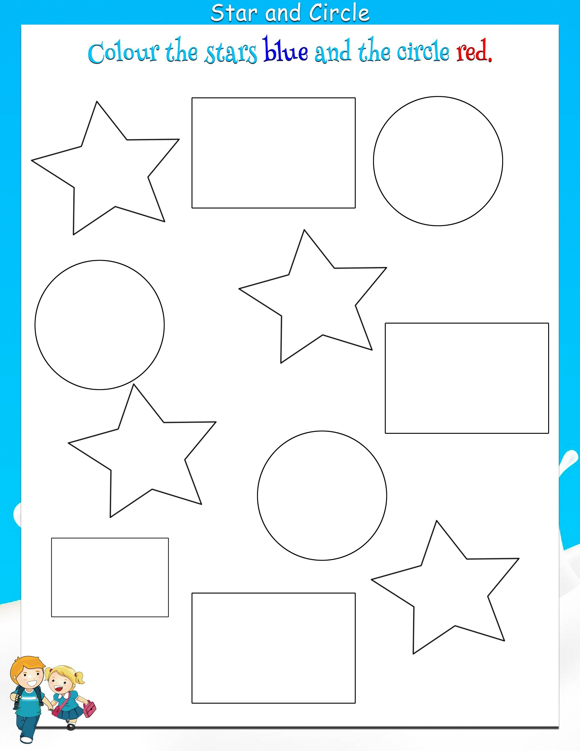 Color Shapes Worksheet
