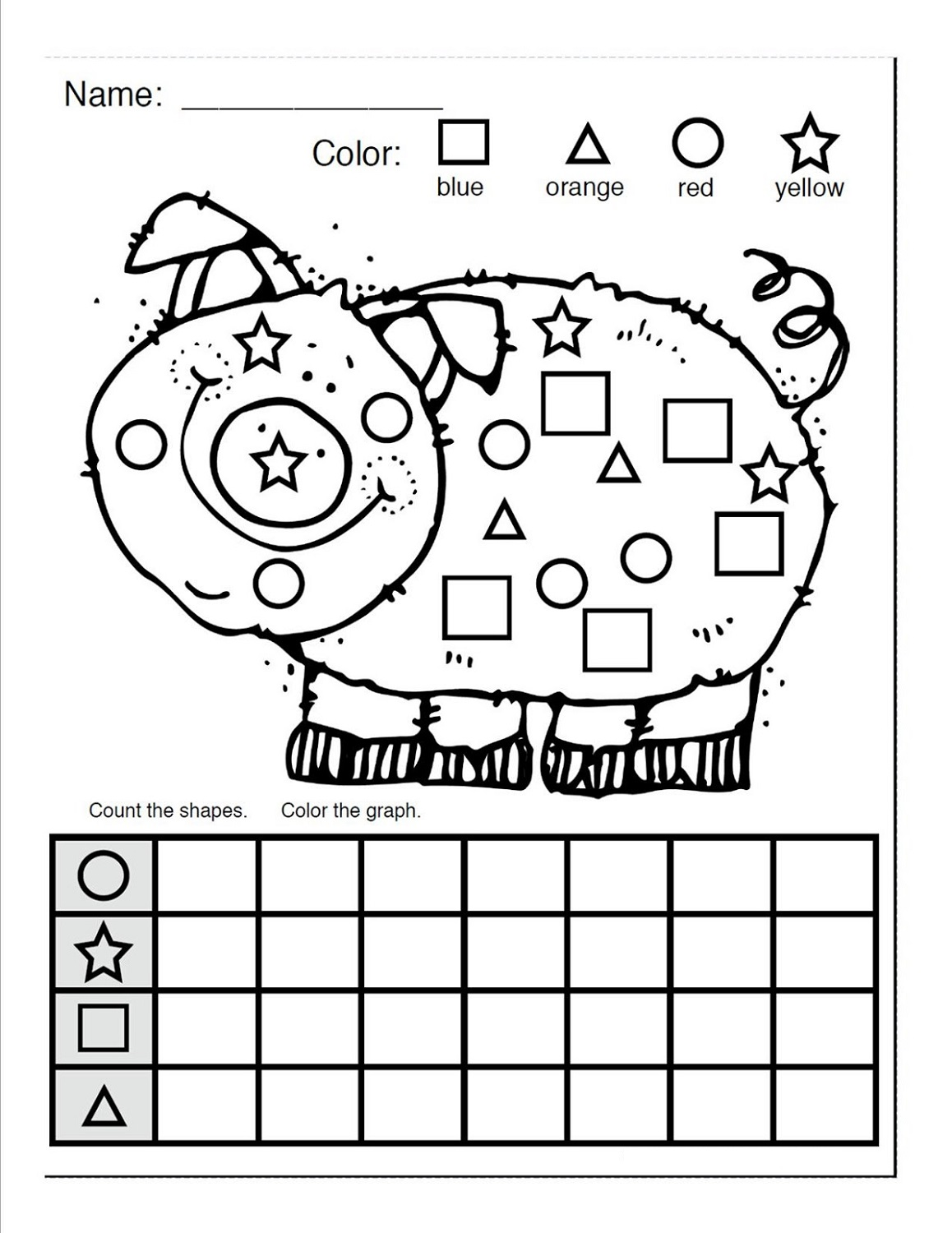 Worksheet On Shapes And Colours