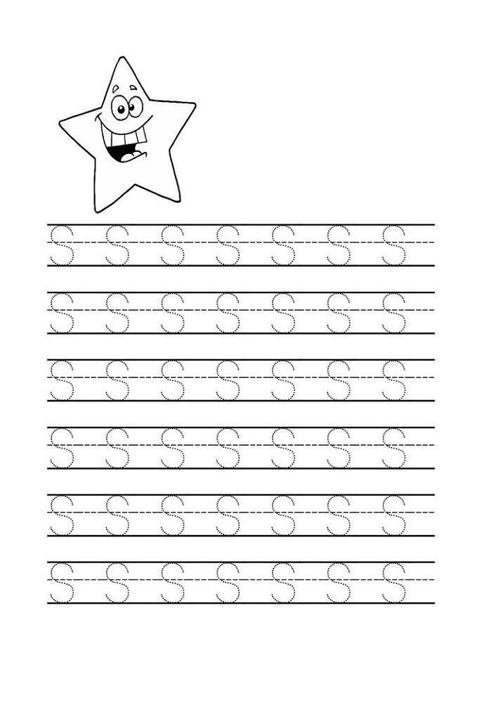 Free Trace Letter S Worksheets