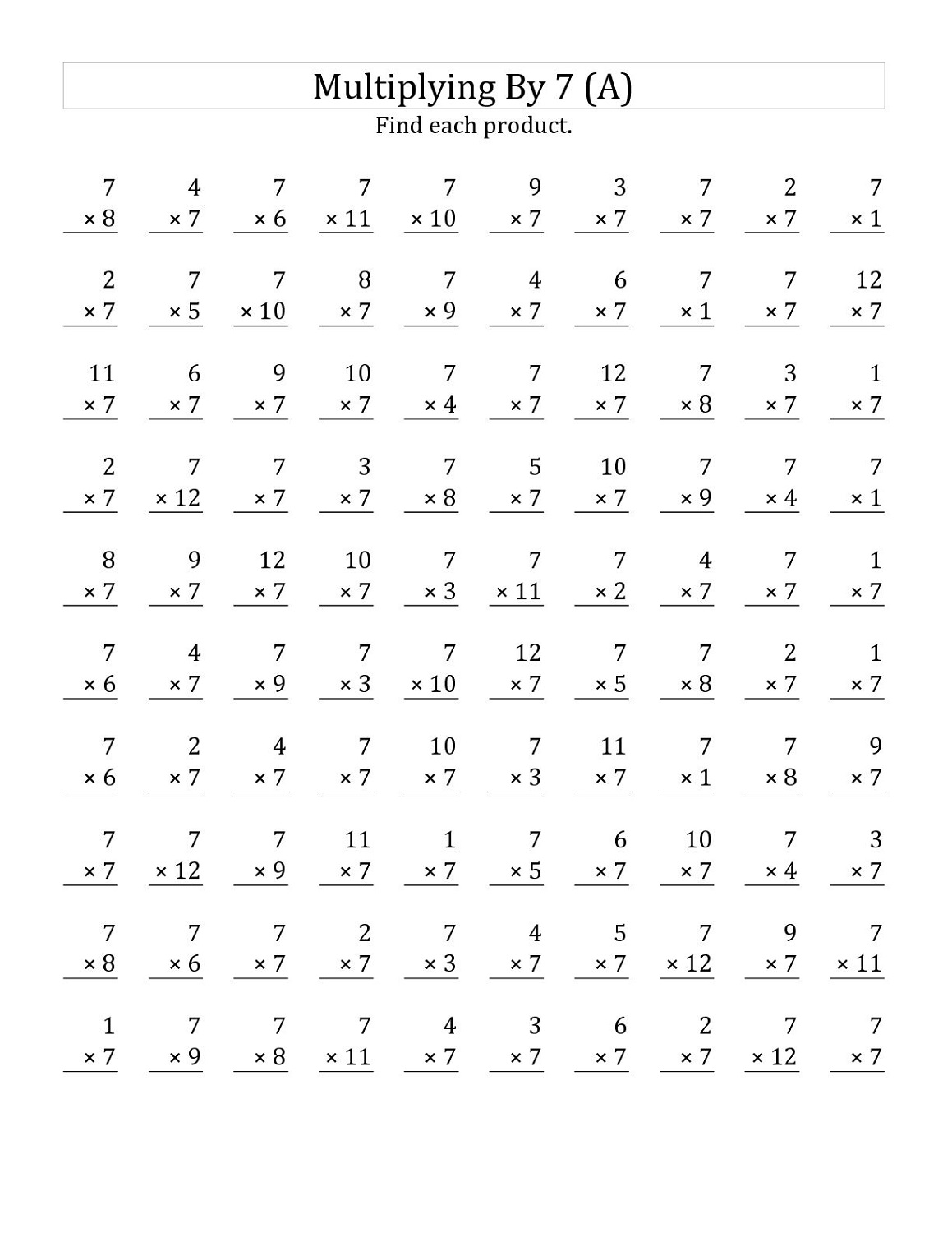 Worksheet 7 Times 12 Grass Fedjp Worksheet Study Site