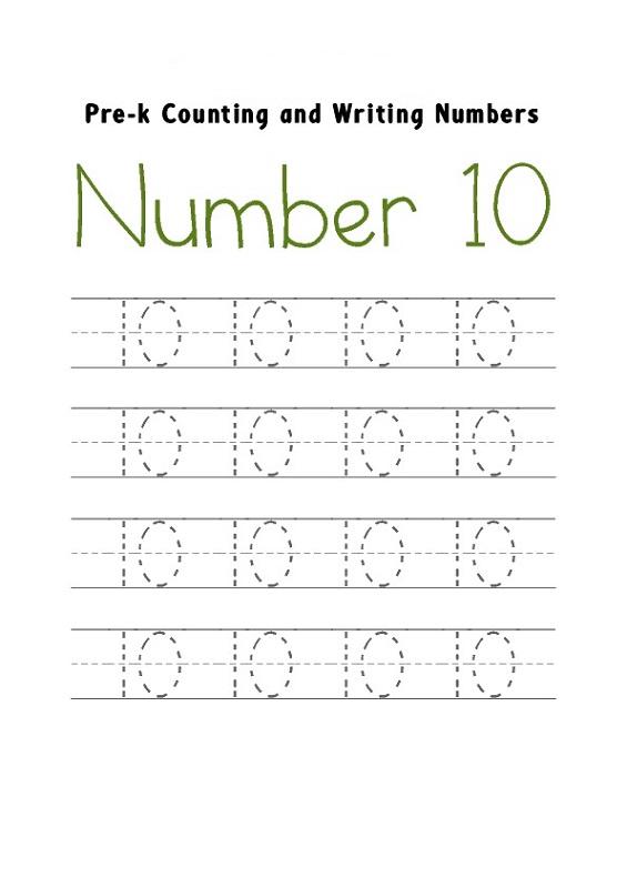 Free Number 10 Worksheets Activity Shelter