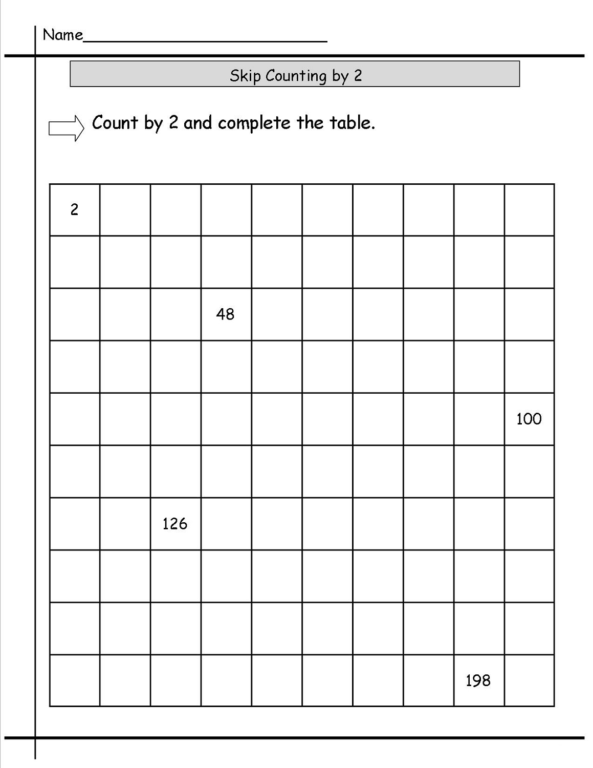 Count By Twos Worksheets
