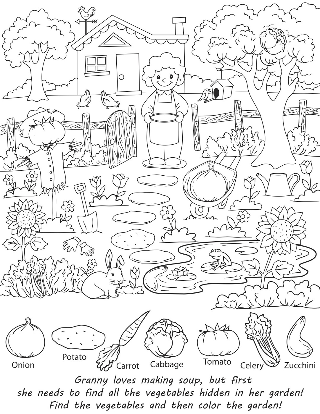 Preschool Hidden Object Worksheet