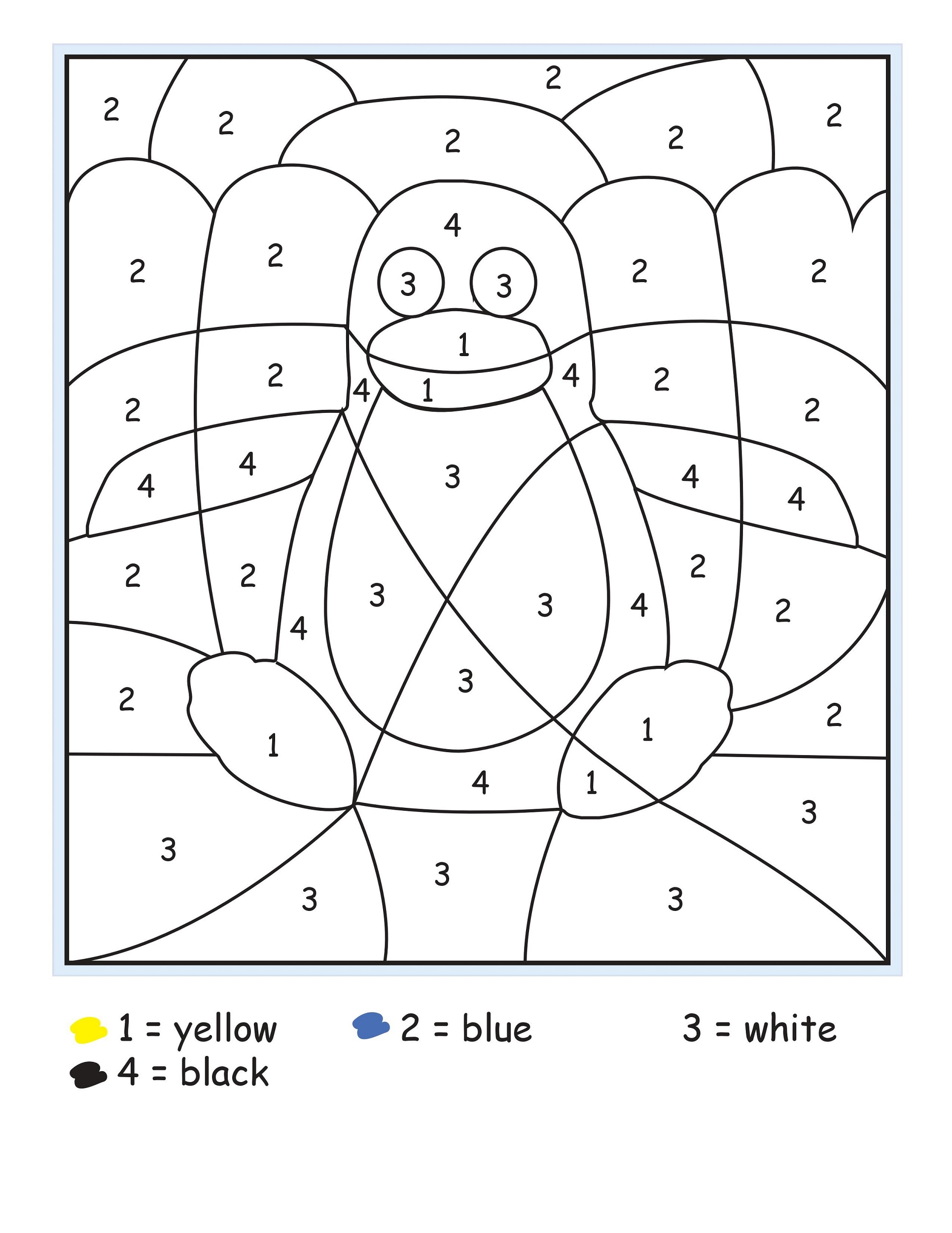 Printable Number Sheets Coloring Pages