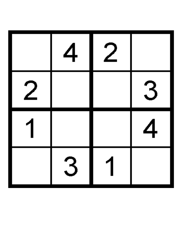 Sudoku For Kids To Print