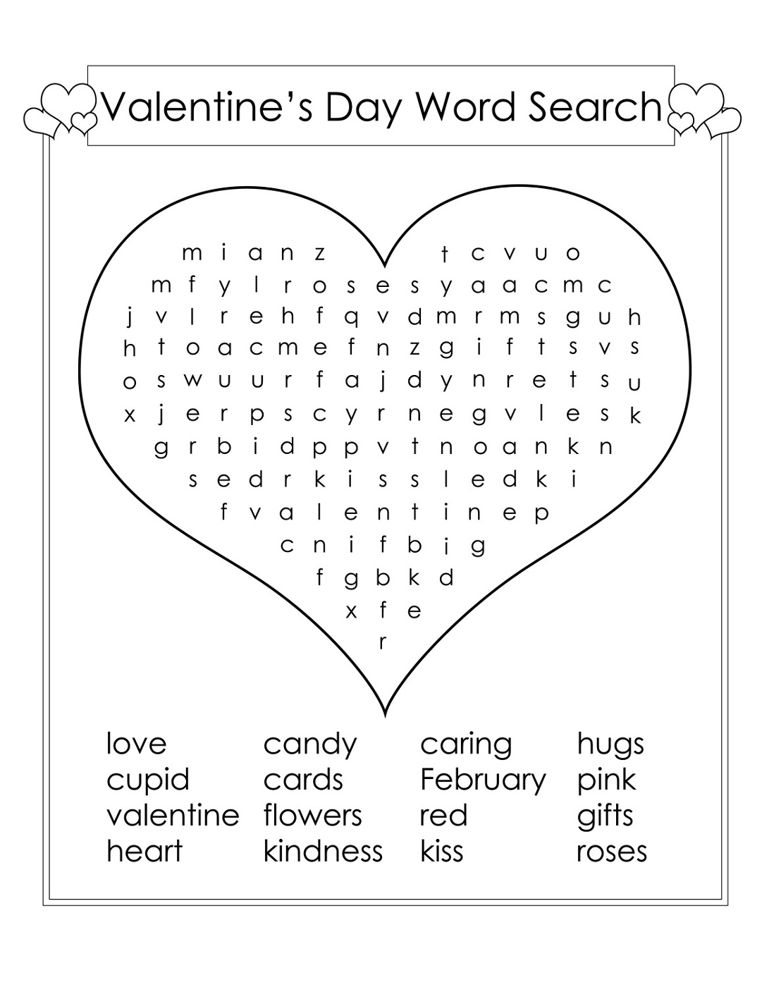 Kids Word Searches Puzzles