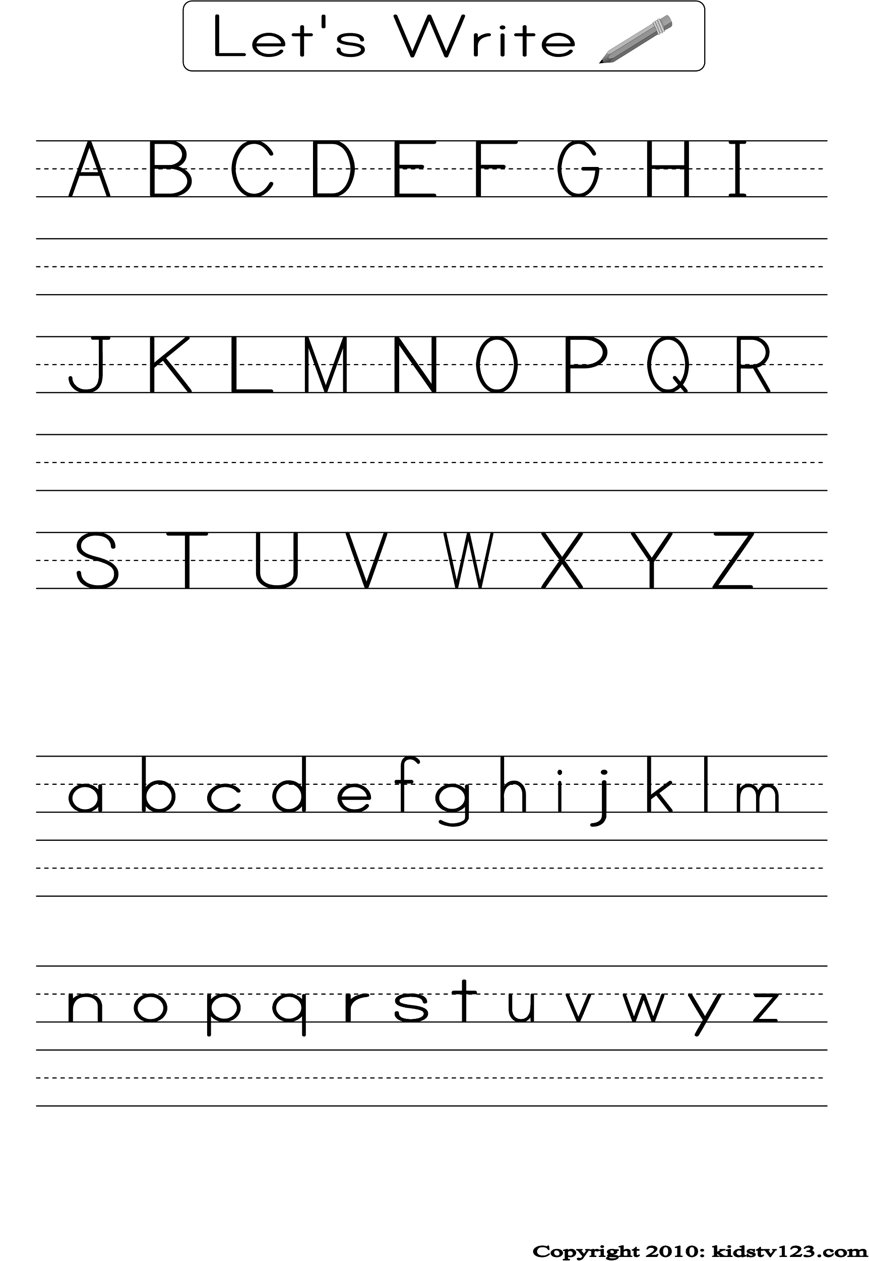 Alphabet Practice Worksheets To Print