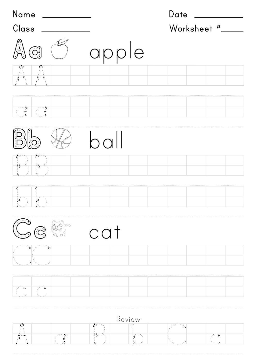 Free Cursive Writing Worksheets For Kids