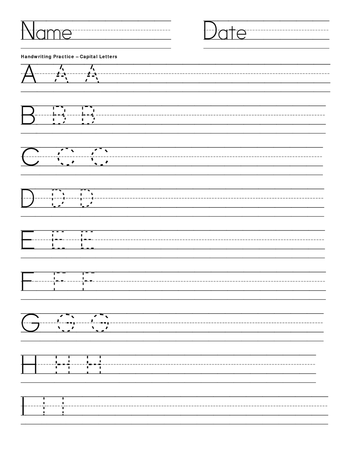 Free Alphabet Worksheets
