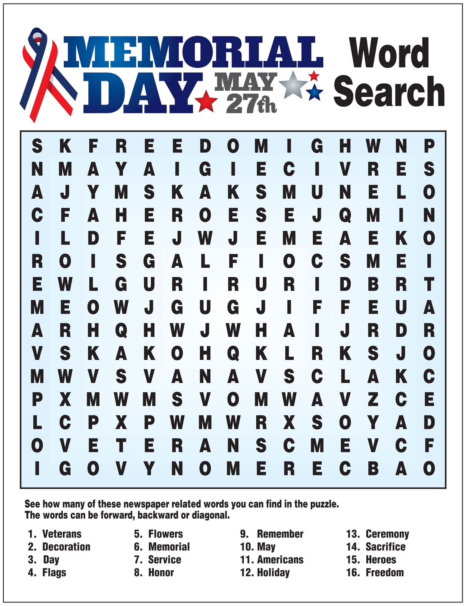 May Word Search