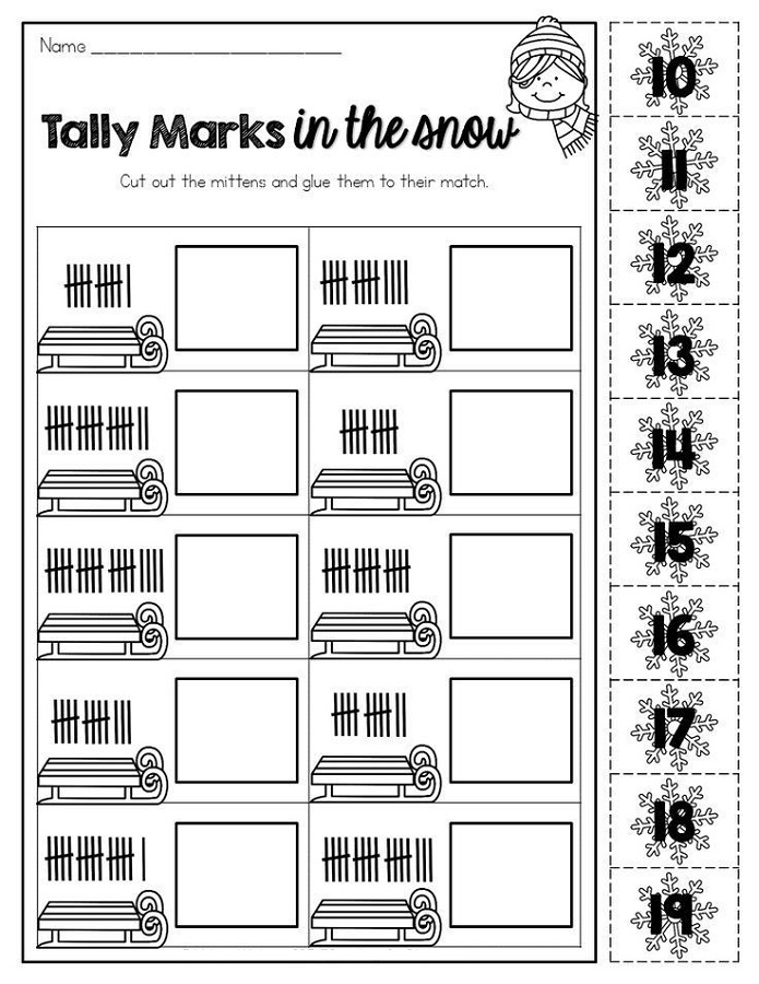 Tally Mark Worksheets Printable