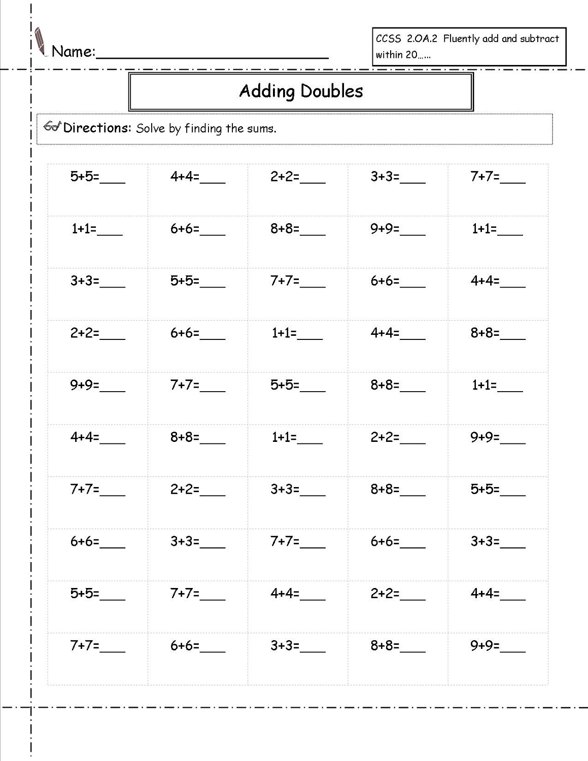Easy 8th Grade Math Worksheet