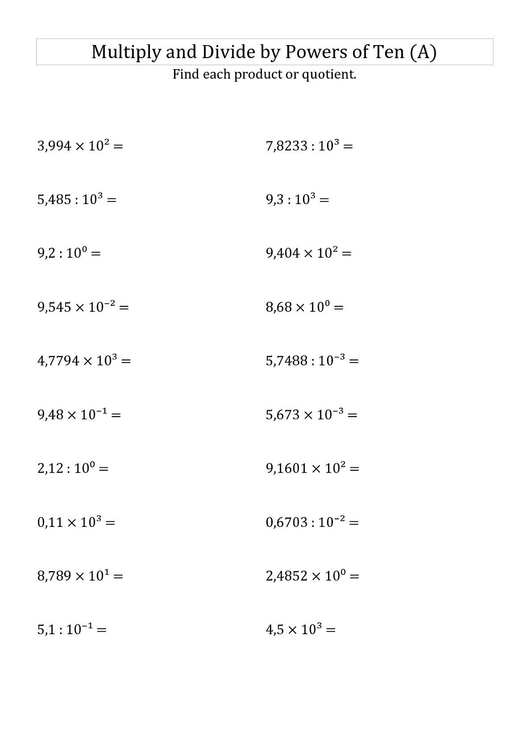 5th Grade Fractions Worksheet