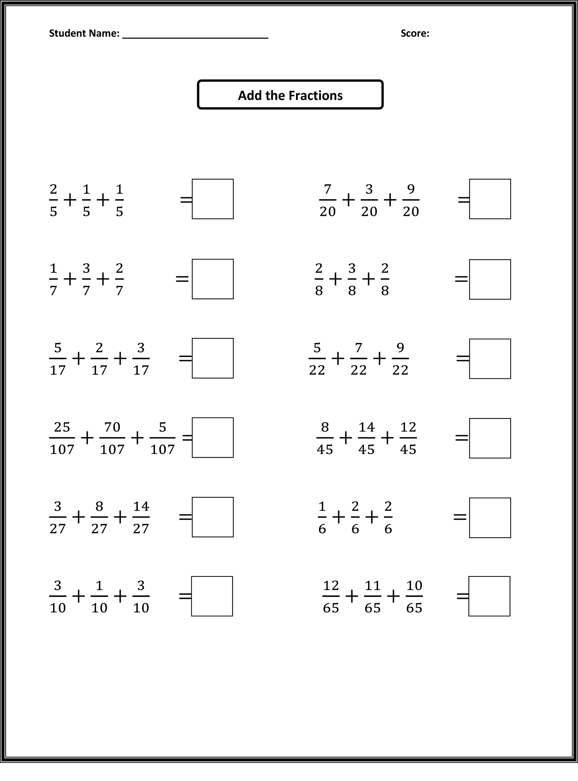 Free Math Worksheets For Grade 4