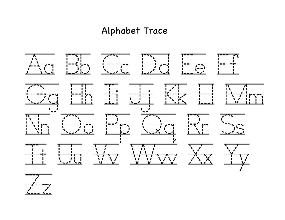 Traceable Alphabet Worksheets A Z